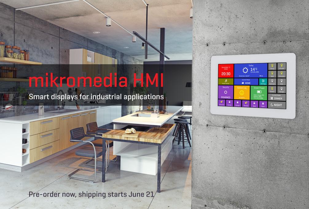 mikromedia HMI with white bezel