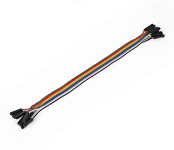 Ribbon Cable 10-wire, Female/Female, 20 cm