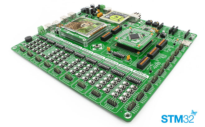 EasyMx PRO v7 for STM32 - ARM Cortex-M3/M4 Development Board