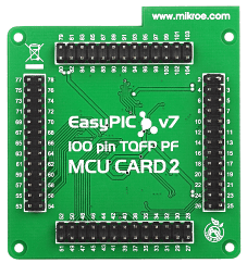 EasyPIC Fusion v7 MCU Card with dsPIC33FJ256GP710A Back