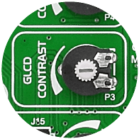 GLCD contrast potentiometer