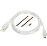 USB cable and ST-Link v7 to mikroProg adapter
