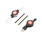 Cable USB, cable Ethernet y dos 1x26 encabezados