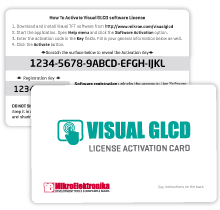 License Activation Card