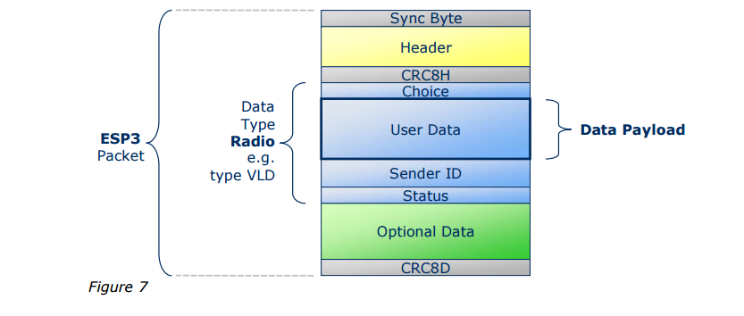 Structure of the ERP1 packet