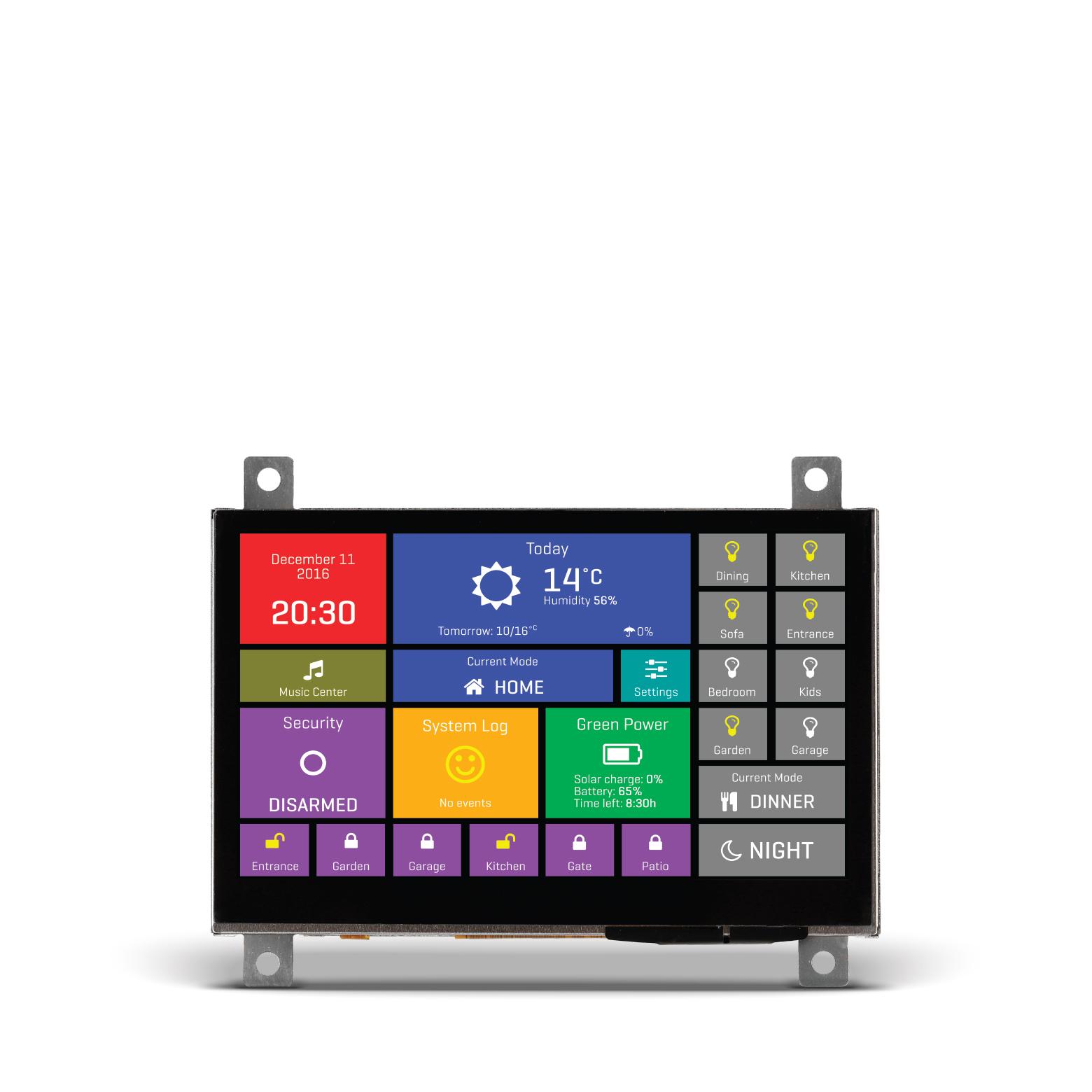 Mikromedia HMI with Capacitive screen