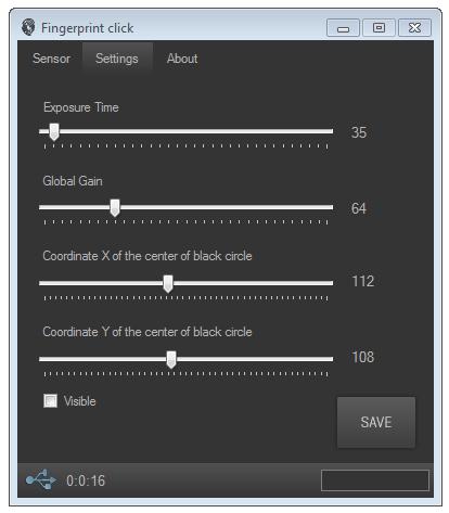 Fingerprint click settings
