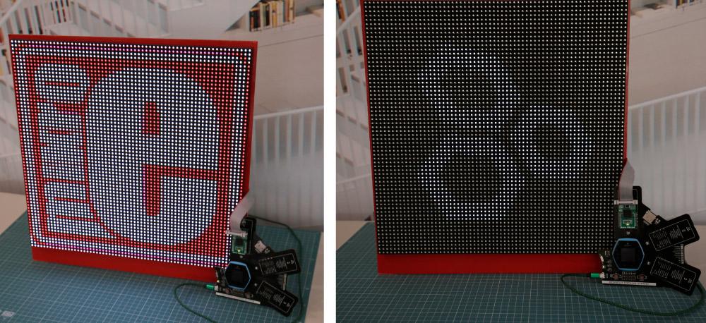 Matrix RGB click - 2x2 panels version