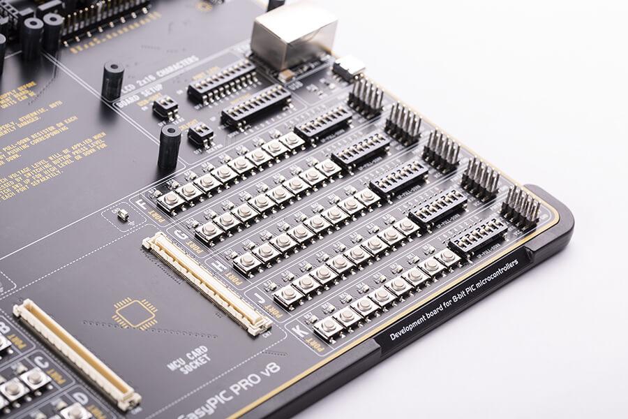 Ports on EasyPIC PRO v8 board