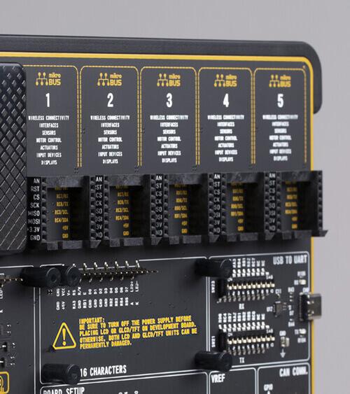 EasyPIC v8 for dsPIC30 mikrobus five socket easypic