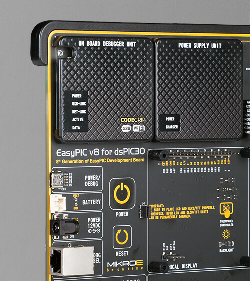 EasyPIC v8 for dsPIC30 power supply