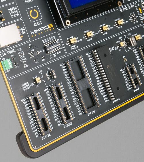 EasyPIC v8 for dsPIC30 mcu card