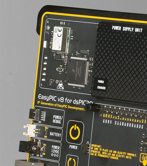 EasyPIC v8 for dsPIC30 onboard wifi debugger/programmer