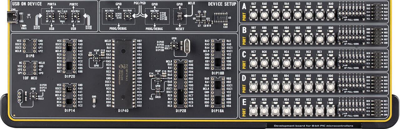 easypic v8  for dsPIC30 pins