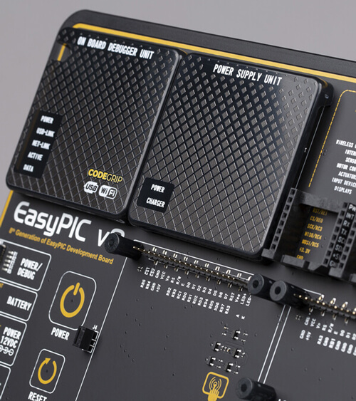 easyPIC v8 power supply
