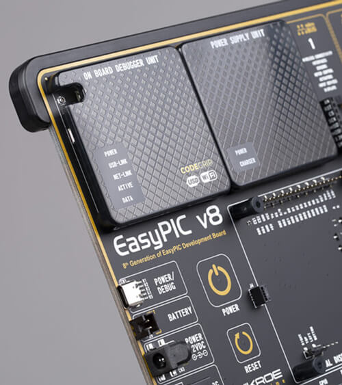 EasyPIC v8 | Development board for PIC microcontrollers