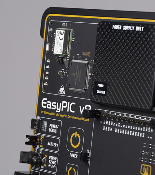 easyPIC v8 onboard wifi debugger/programmer
