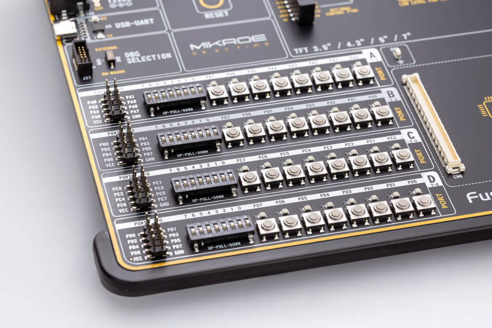 Input output on Fusion for ARM switches, buttons, indicators, and connectors
