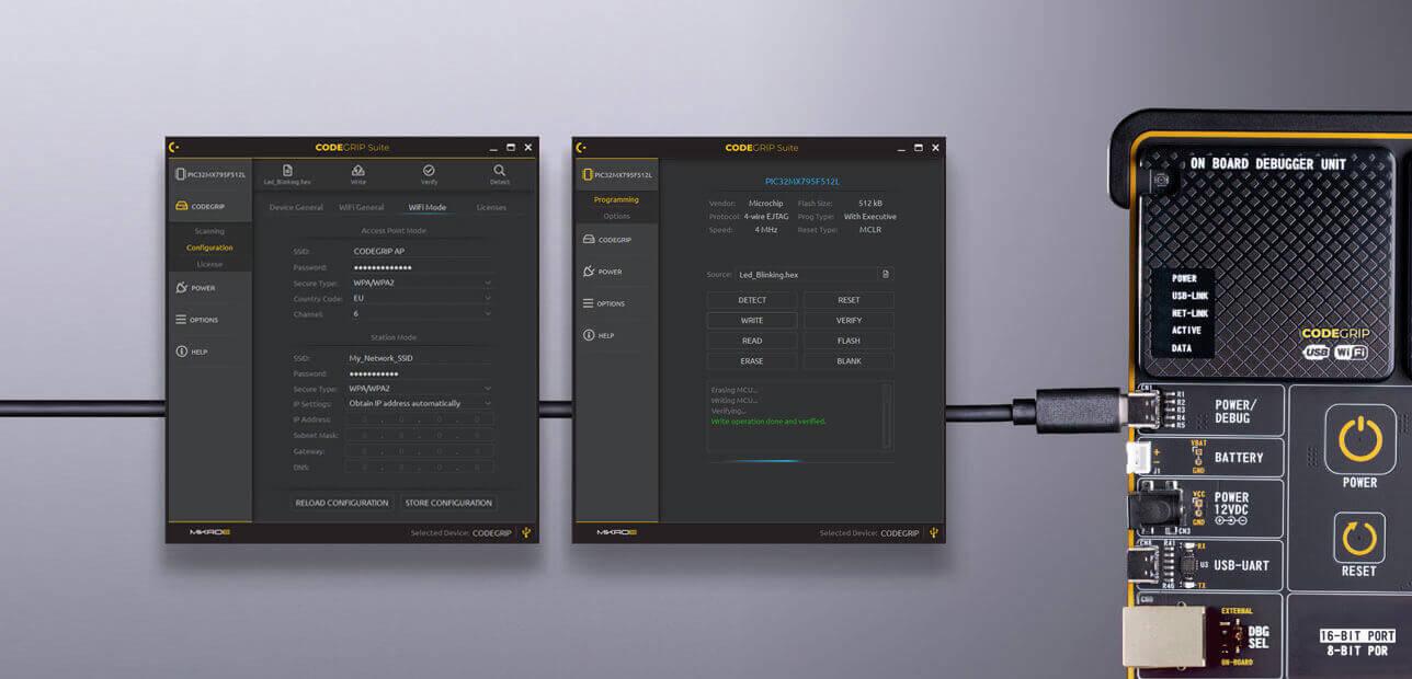 Mikroe fusion for arm codegrip debugger