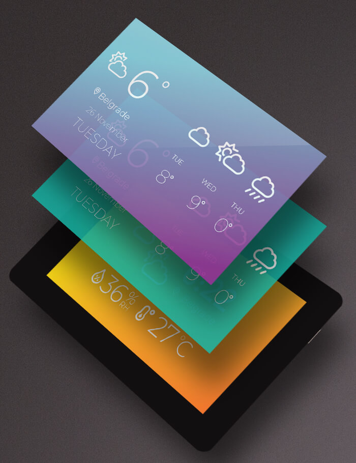Mikromedia 4 for Kinetis CAPACITIVE FPI with bezel display graphic