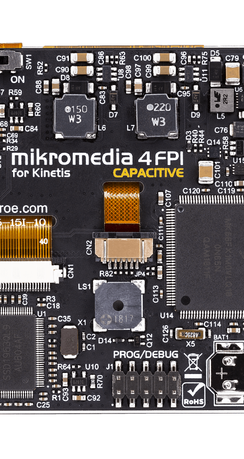 Mikromedia 4 for Kinetis CAPACITIVE FPI with bezel