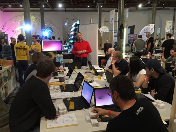 MikroElektronika Flip & click with Python at Maker Faire Vienna 2016