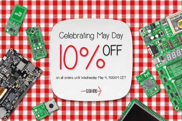 May Day offer 10% OFF