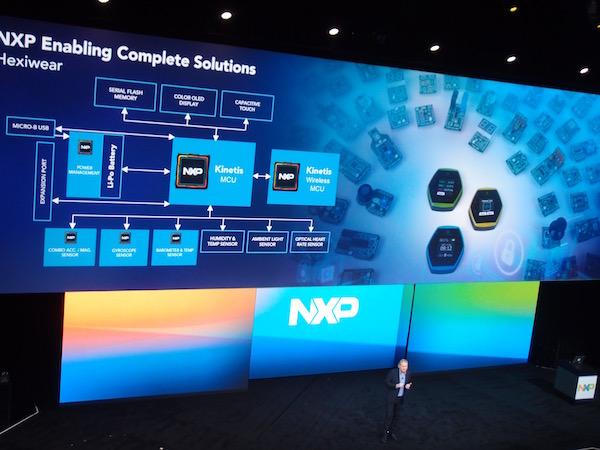 Hexiwear at NXP FTF Technology forum keynote