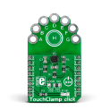 TouchClamp click released, but clasped with alligator clips