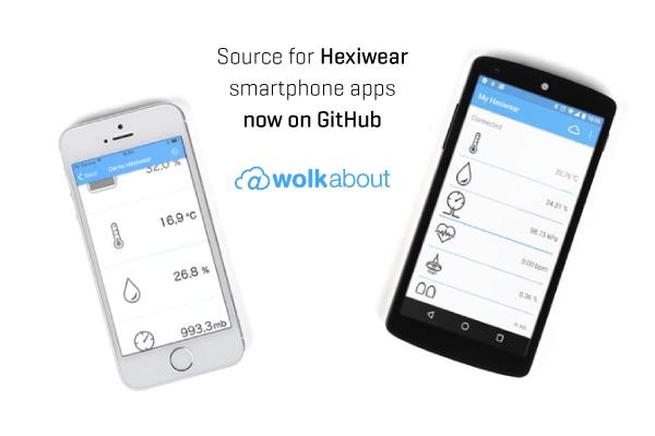 Hexiwear smartphone apps