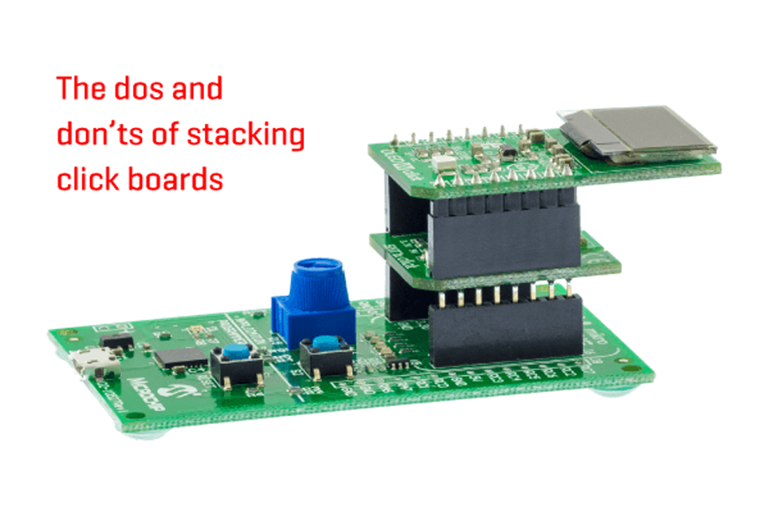 click board stacking