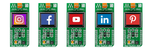 MikroElektronika Click Boards Display OLED Switch click