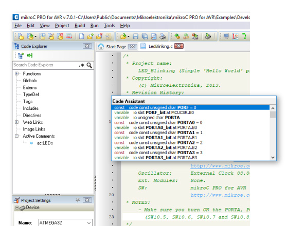 Pololu 3. Compiling an example program.