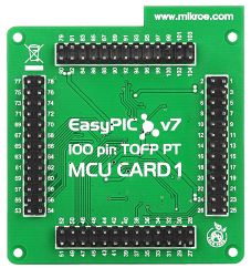 Mikroe EasyPIC Fusion v7 MCU Card with PIC24EP512GU810 back
