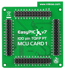 MIkroe EasyPIC Fusion v7 MCU Card with PIC24FJ128GA310 back