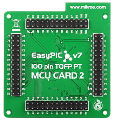 Mikroe EasyPIC Fusion v7 MCU Card with PIC32MX460F512L back