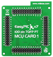 Mikroe EasyPIC Fusion v7 MCU Card with dsPIC33EP512MU810 back