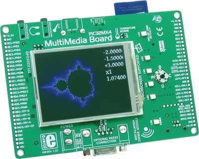 PIC32MX4 MultiMedia Board has been released