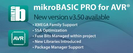 mikroBasic PRO for AVR v3.50