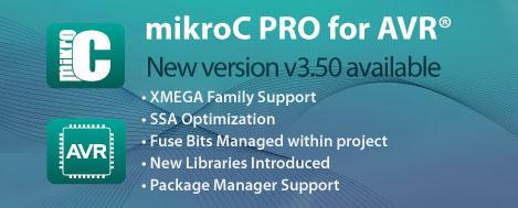 New mikroC PRO for AVR v3.50 released