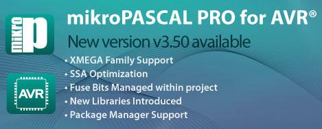 mikroPascal PRO for AVR v3.50