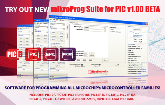 mikroProg Suite for PIC v1.00 BETA