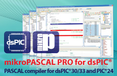 mikroPascal PRO for dsPIC30/33 and PIC24
