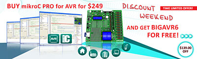 Weekend Offer - mikroC PRO for AVR with FREE BIGAVR6