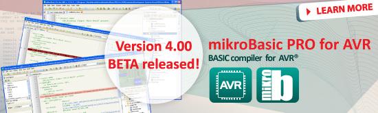 mikroBasic PRO for AVR 4.00 BETA released