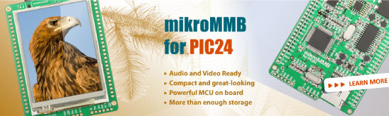 mikroMMB for PIC24 board is now available for sale