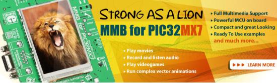 Multimedia Board for PIC32MX7