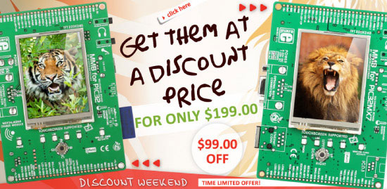 Weekend Offer - MMB for PIC32MX4 + MMB for PIC32MX7
