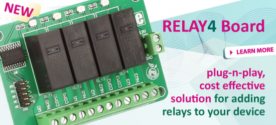 New: Relay 4 Board