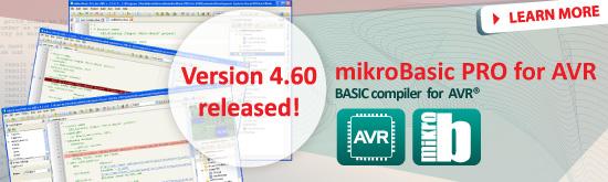 mikroBasic PRO for AVR 4.60 released